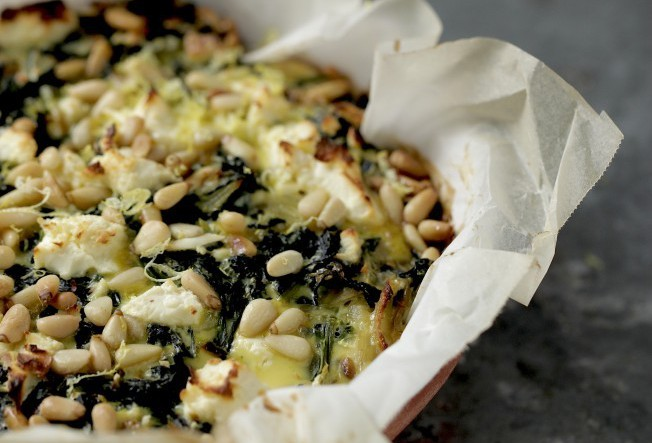 Kale, Spinach and Feta Pie Recipe