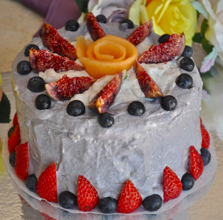 watermelon cake with coconut cream frosting recipe finished