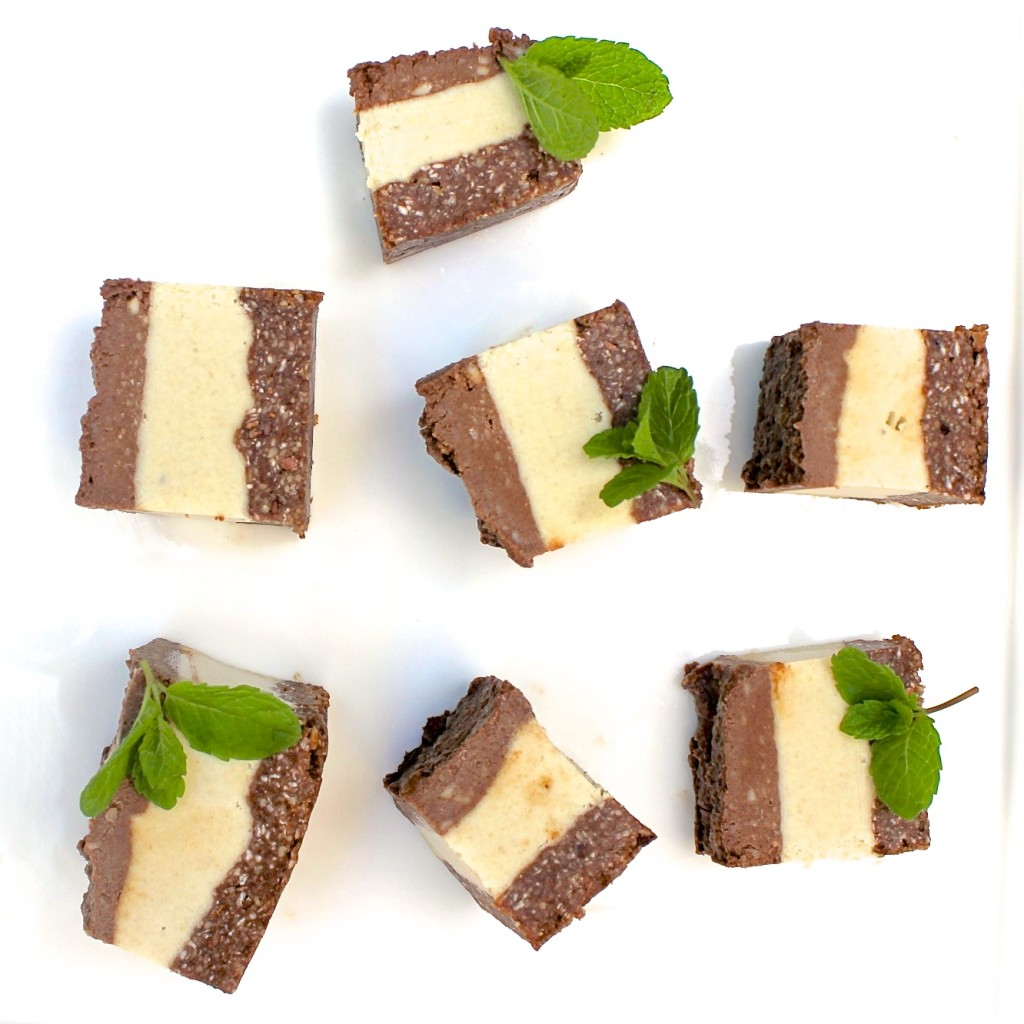 RAW MINT CHOCOLATE SLICES