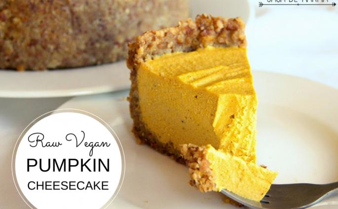 Raw VeganPumpkin Cheesecake