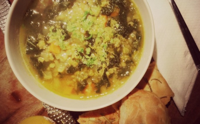 kale and lentil soup