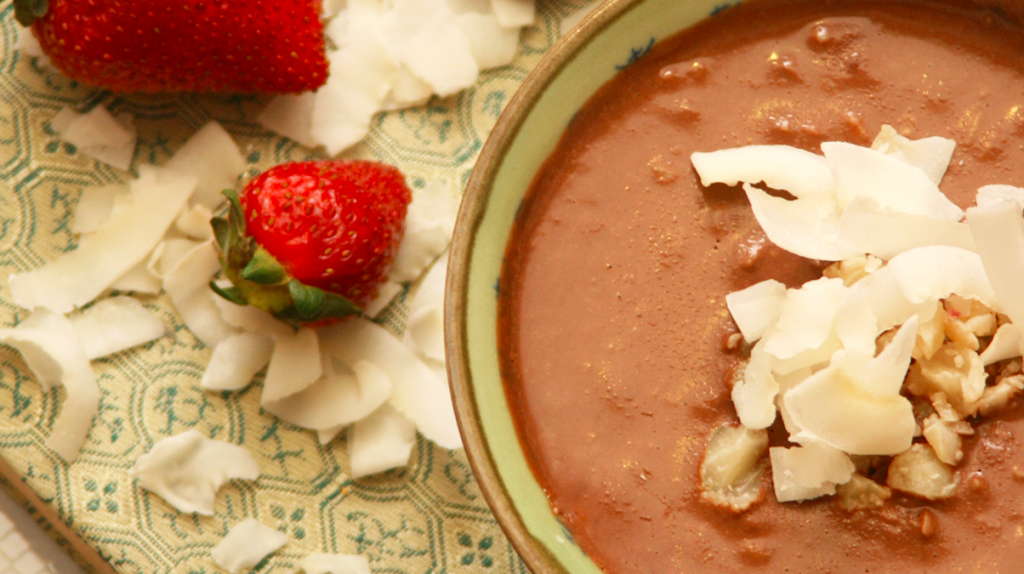 dark chocolate and macadamia fondue