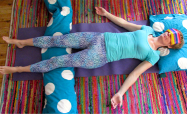 a bedtime yoga sequence