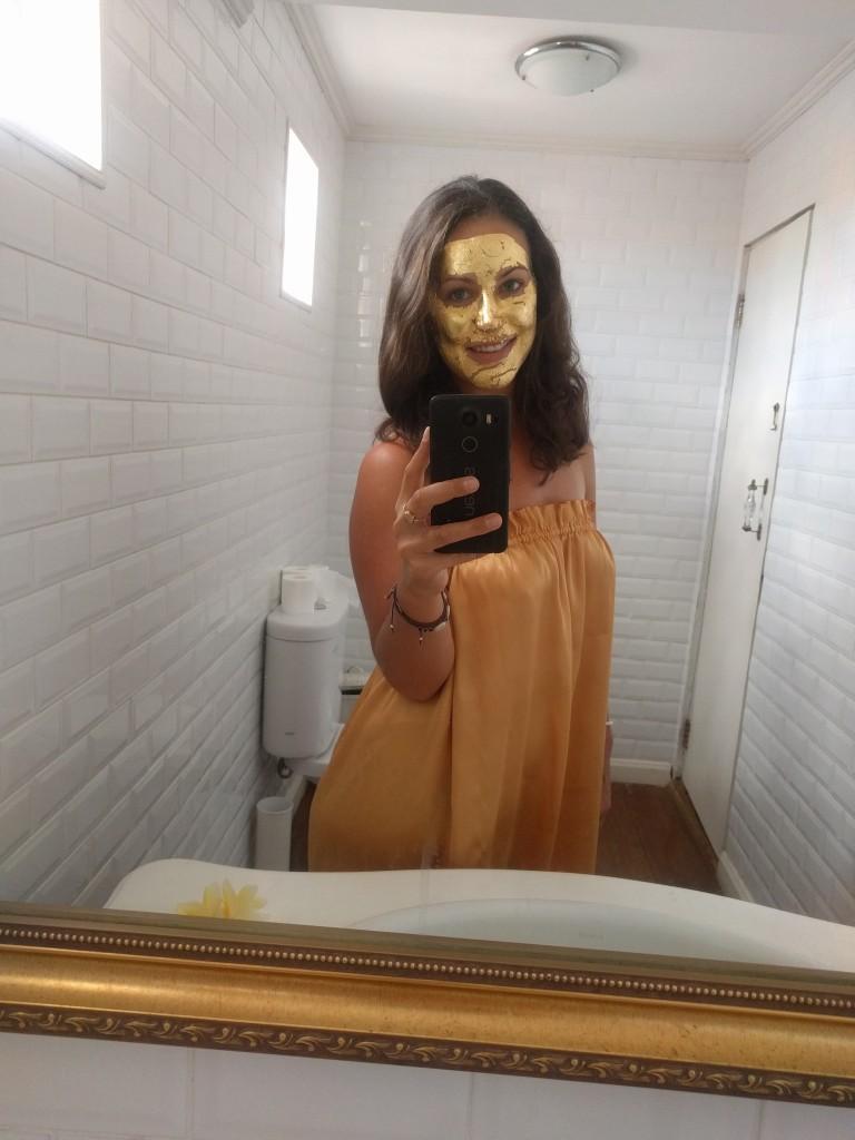 24 carat gold leaf facial review